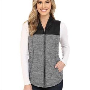 The North Face Heathered Gray & Black Vest Sz S